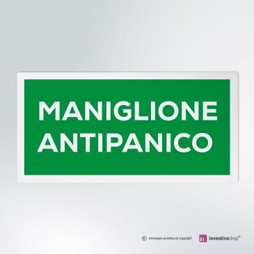 Cartello Maniglione Antipanico