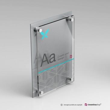 Targa DualPlate Verticale: Silver
