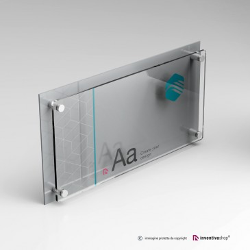 Targa professionale DualPlate Aspect 2-1: Silver