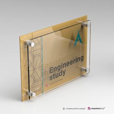 Stampa su targa Plexiglass DualPlate Orizzontale Gold
