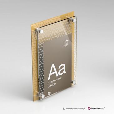 Stampa su targhe plexiglass: DualPlate Verticale Gold