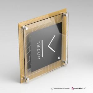 DualPlate quadrata: Gold