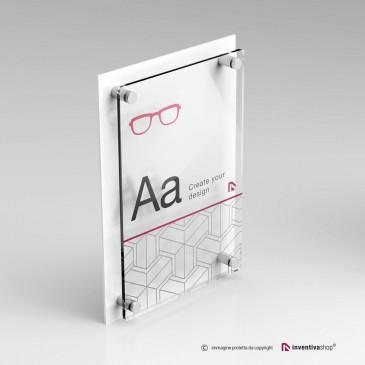 Targhe plexiglass: DualPlate Verticale - Bianco