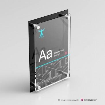 Targhe professionali DualPlate Verticale: Black