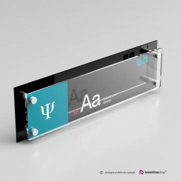 Targa plexiglass formato 4 a 1 doppia lastra personalizzata: DualPlate Nero