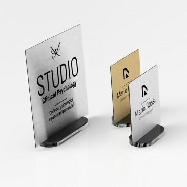 Portanome da scrivania: Modello Quadrato