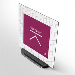 Porta-taghetta da tavolo SlotDesk: Quadrato Stampato