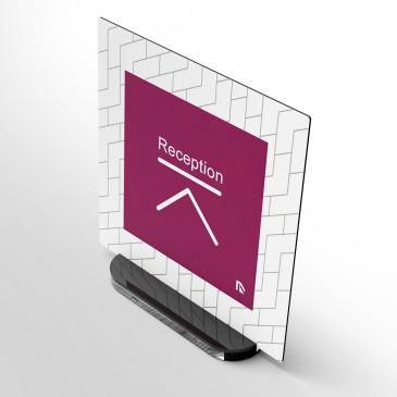 Portanome da scrivania: Modello Quadrato Stampato