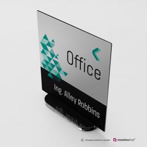 Portanome da scrivania modello Slide: Quadrata