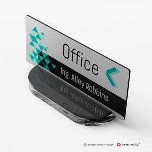 Portanome da scrivania modello Slide: Rettangolare
