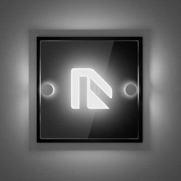 Targhetta luminosa ideale per Hotel o uffici: FixLed Mini: modello quadrato