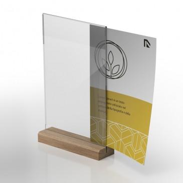 Display in plexiglass porta flyer: Woo-Pocket