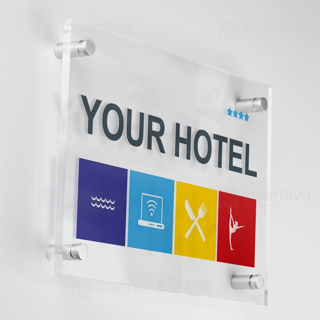 Targhe orizzontale spigoli retti targhe in plexiglass - Targhe porta plexiglass ...