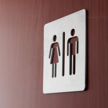 Targhette Toilette alluminio