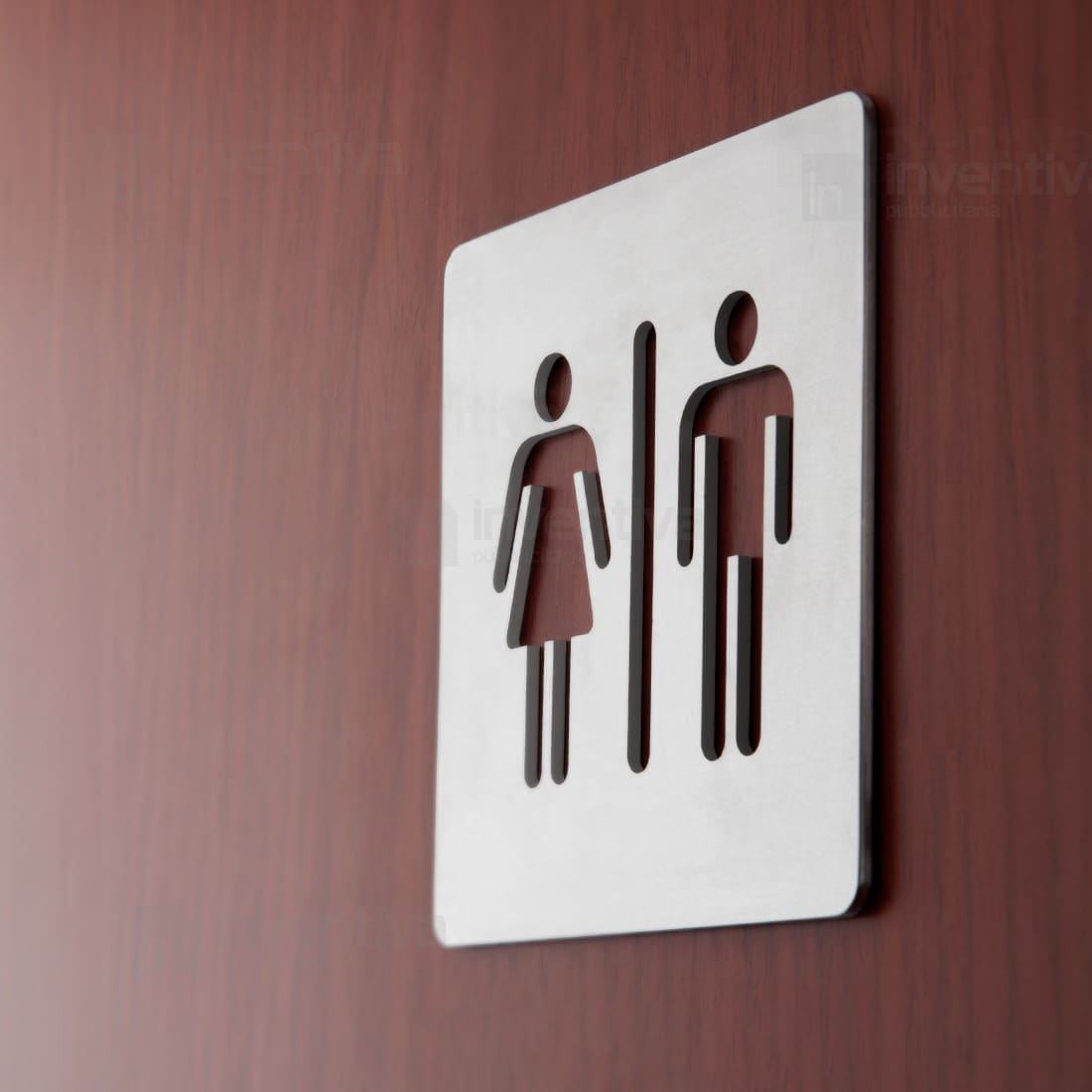 Insegne toilette cartelli in alluminio con traforato for Wc immagini