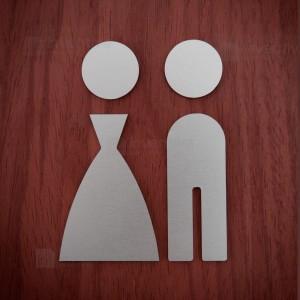 Pittogrammi Toilette alluminio M002