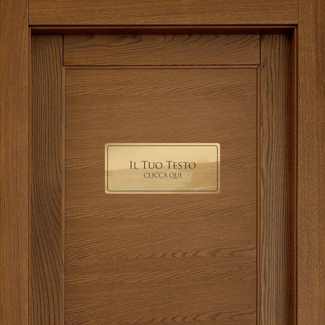 Conosciuto Targhette per porta ufficio - Progetta online PK77