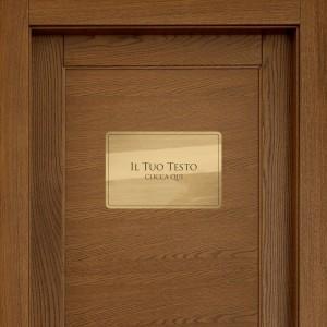Targhette porta Rettangolare Din