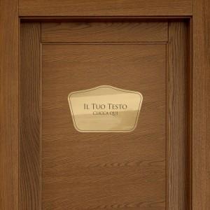 Targhette porta stile Barocco