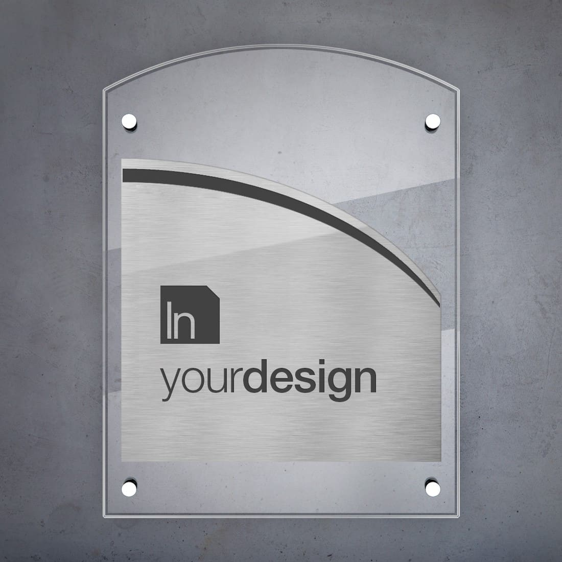 Targa modello arco in acciaio abs targhe professionali - Targhe porta plexiglass ...