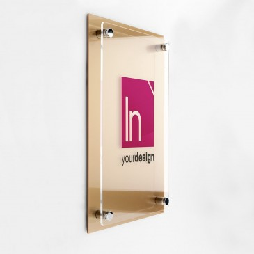 Targhe personalizzate Dual Plate Gold V