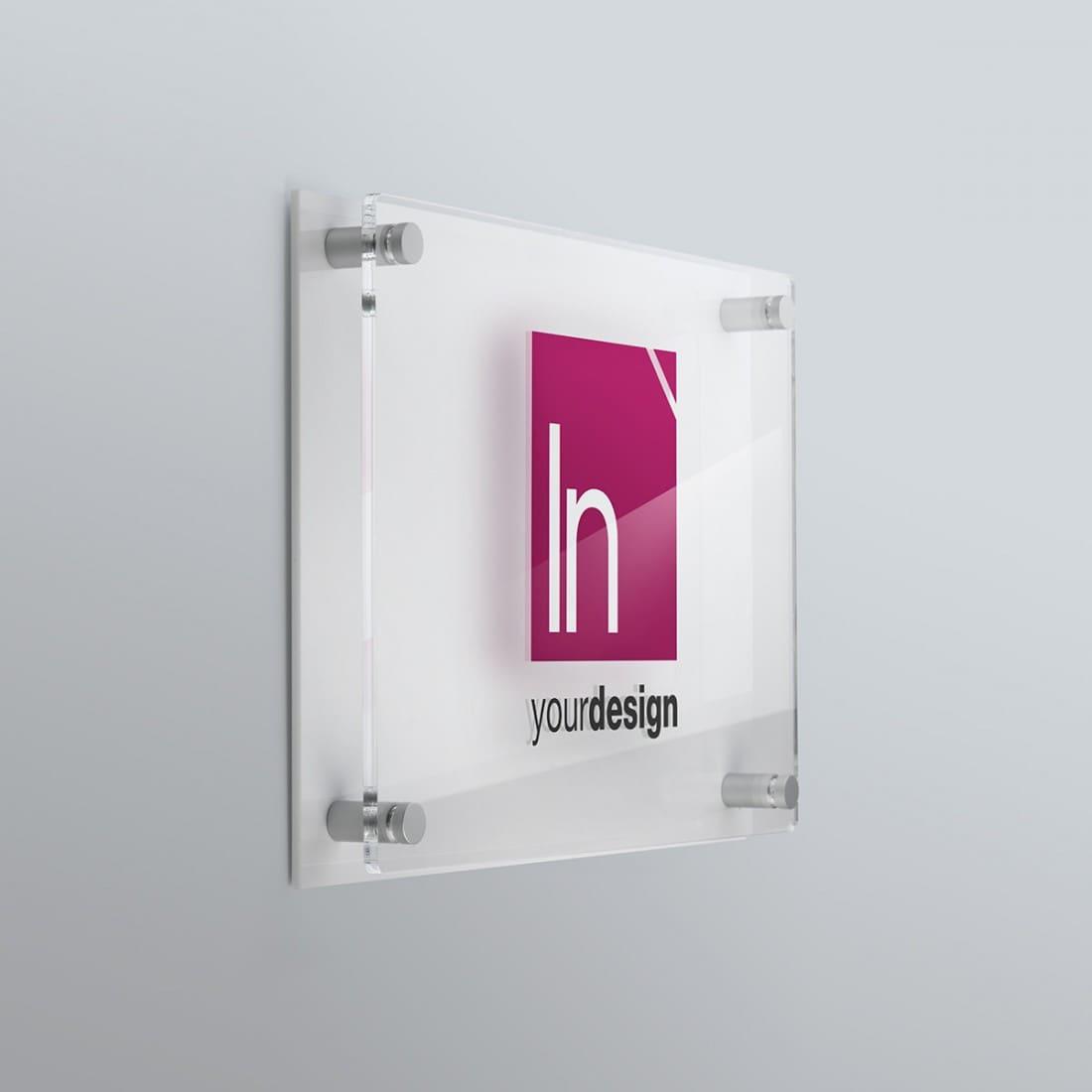 Targa con fondo bianco targhe plexiglass doppia lastra - Targhe porta plexiglass ...