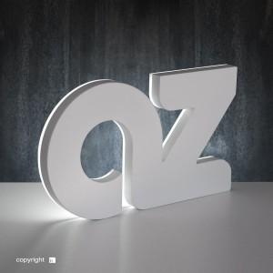 Classic-backlit letter