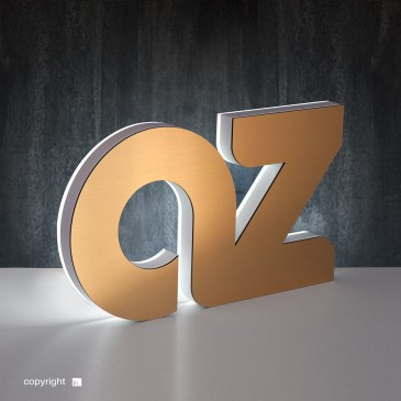 Classic-backlit metal letter