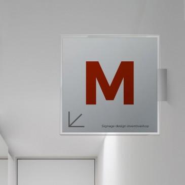 Cartelli indicatori ufficio Aluminum quadrata