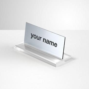 Portanome da scrivania Rettangolare - Steel Inciso