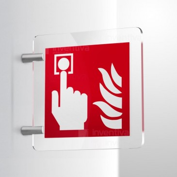 Cartello Allarme Antincendio bifacciale