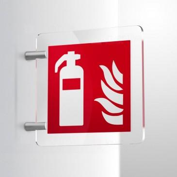 Cartello antincendio estintore - bifacciale