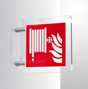 Cartello lancia antincendio idrante - bifacciale
