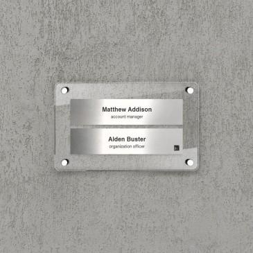 Espositore da parete Multi nome 2 moduli Silver