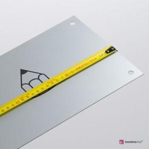 Targa Alluminio Silver: Misure personalizzate