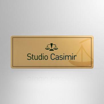 Targhetta Alluminio gold RET001