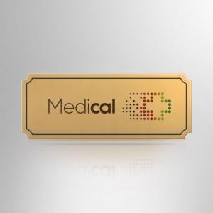 Targhetta Alluminio gold CLAS001