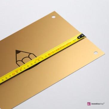 Targa Alluminio gold: misure personalizzate