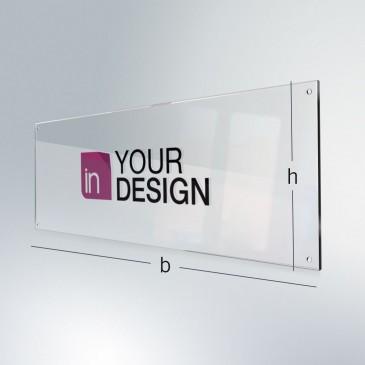 Insegna plexiglass: forma personalizzata