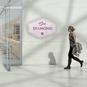 Insegna plexiglass: modello Diamond