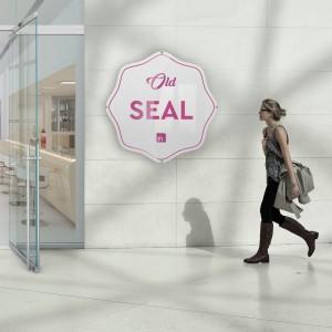 Insegna plexiglass: modello Seal