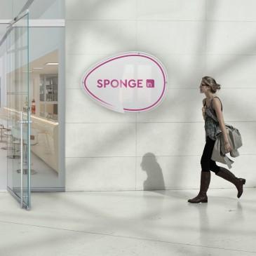 Insegna plexiglass: modello Sponge