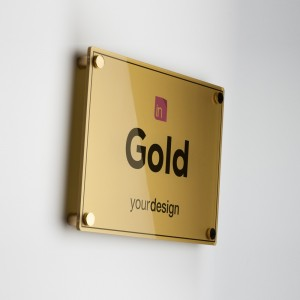 Single Plate Gold Orizzontale