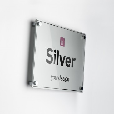 Single Plate Silver Orizzontale