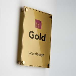 Single Plate Gold Verticale