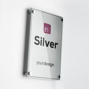 Single Plate Silver Verticale