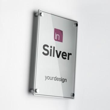 Targa Single Plate Silver Verticale