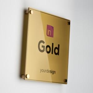 Single Plate Gold Quadrata