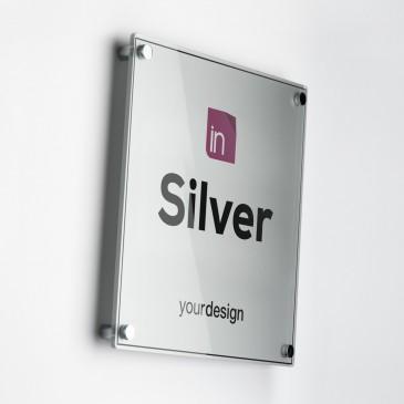 Single Plate Silver Quadrata