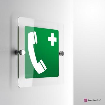 Cartello Telefono d'emergenza e salvataggio E004